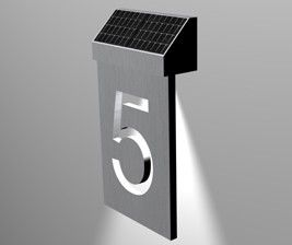 Solar LED House Number Introduced in UK