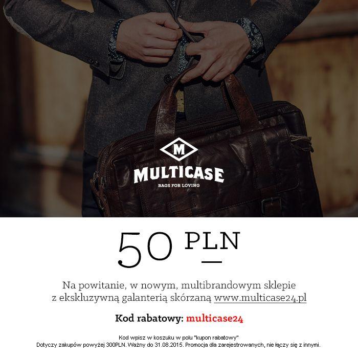 Bon powitalny do nowego sklepu internetowego Multicase24.pl  A w nim marki: Piquadro, Landleder, Treats, Hexagona, Gil Holsters. Zapraszamy!