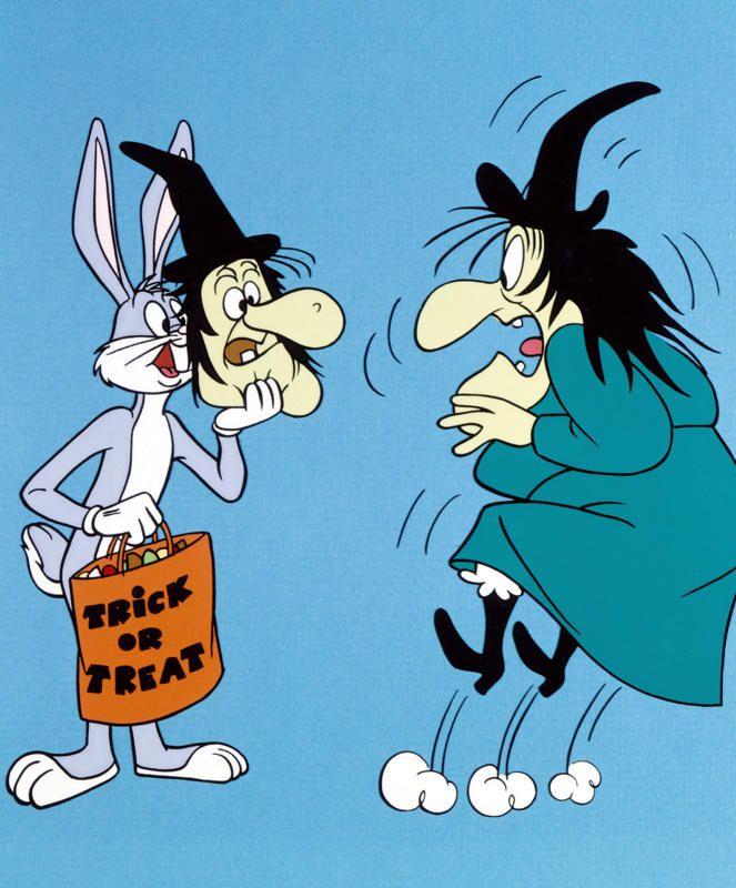 Looney Tunesツ Witch Hazel (June Foray) & Bugs Bunny