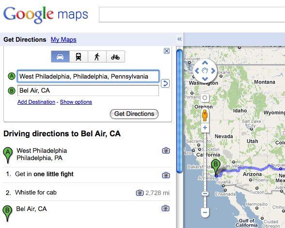 Sing Lyrics As Directions On Googles Maps