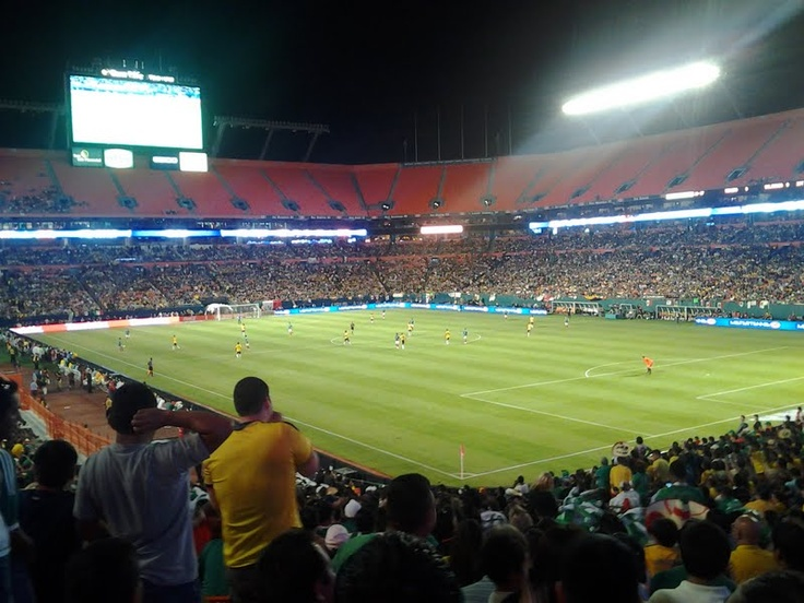 Mexico vs. Columbia soccer game in Miami, Florida at Sunlife Stadium, #soccer, #miami