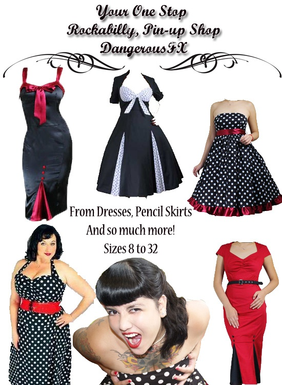 Vintage rockabilly plus size dress