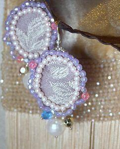 ORECCHINI-earrings-ARTIGIANALI-bohemian-GIPSY-grigi-PERLE-boucles-doreilles