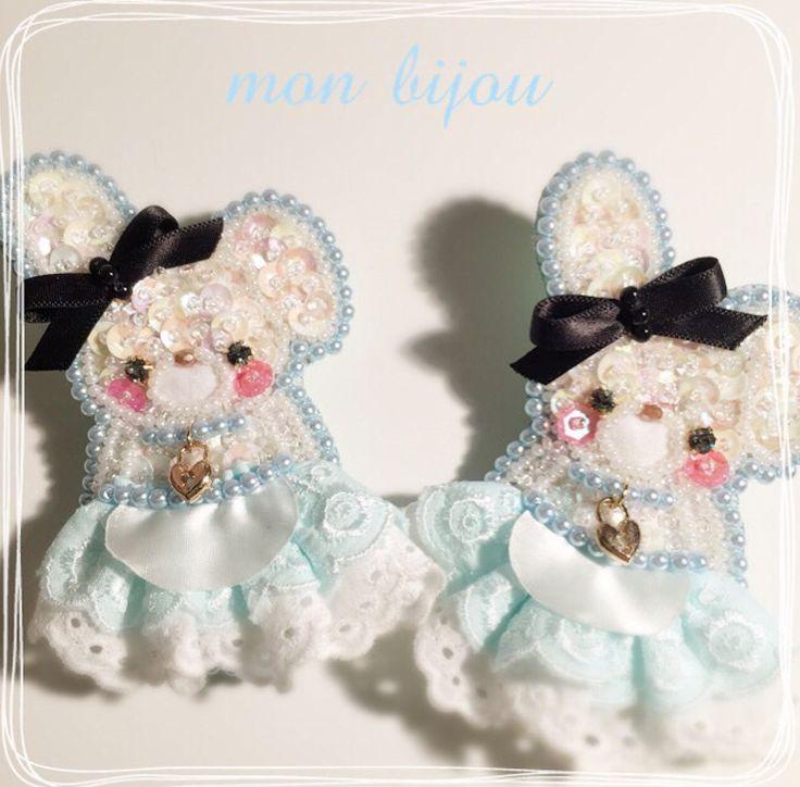 Cute (・ω・)ノ 日本 DIY Pastel handmade JP Cr: mon liiou #handmade #pastel #harajuku #japanese #lolita