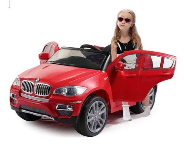 ride on kids car bmw x6 battery powered operated children toy huffy red electric