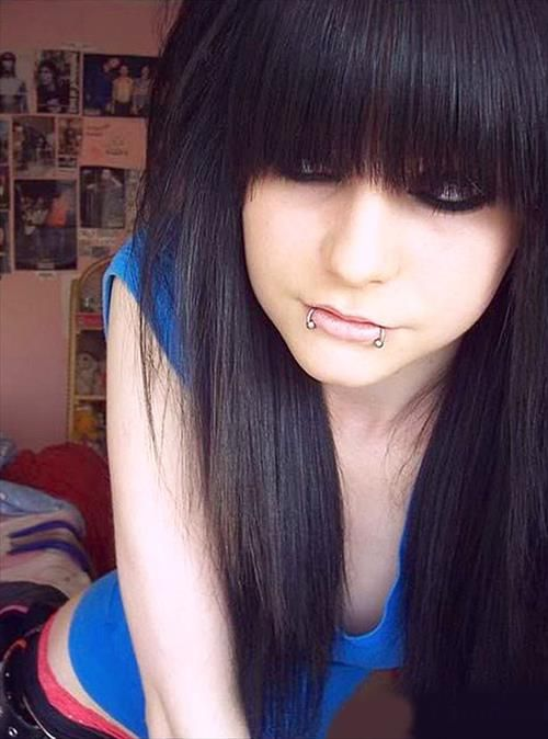 Cute Emo Hairstyles for Long Hairthinking about doing these bangs next time...: Idea, Emo Girls, Hair Styles, Emo Hairstyles, Emo Kids, Girl Hairstyles, Emo Scene Hairstyles, Hairstyles For Girls, Haircut