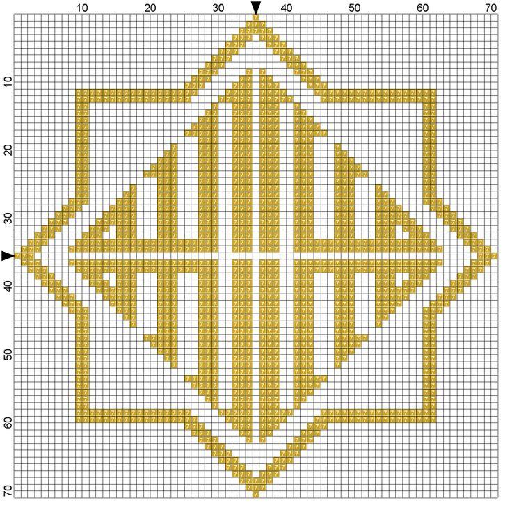 Star Allah Cross stitch pattern