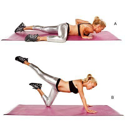 Want to lose 10 pounds in 10 days? Try toning up fast with total-body moves, like this army crawl, from celeb train Tracy Anderson. | Health.com
