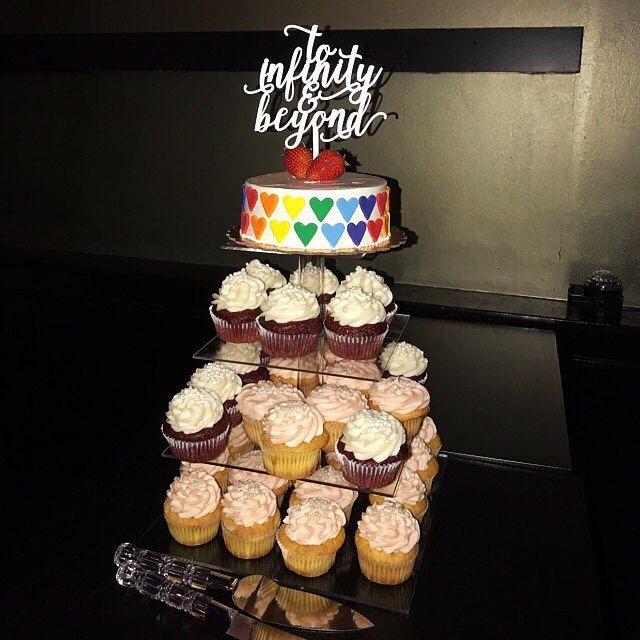 To infinity & beyond!  #wedding #cake #topper #cupcake #tower #dessert #disney #buzzlightyear #ngocreations #etsy #weddings #ideas #decor #unique #toinfinityandbeyond #infinity #infinite #love