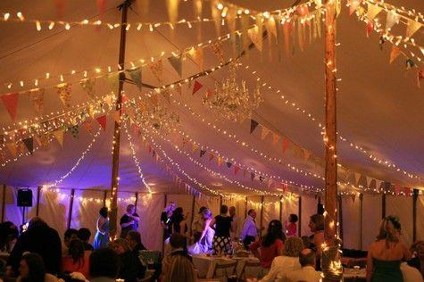 Boho Planned Weddings: Rachel and Kevin's DIY village fete wedding #lighting