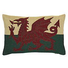 Buy John Lewis Welsh Dragon Cushion Online at johnlewis.com