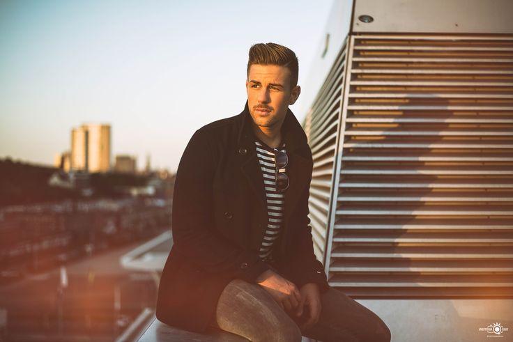 Sundown Photo shoot with Male Model Jonas @ Docklands Hamburg / Germany /Portrait / Fashion / Lifestyle