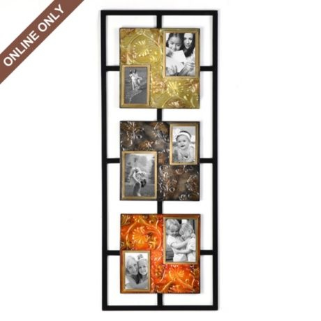Metal Embossed Floral Collage Frame Home Decor Pinterest