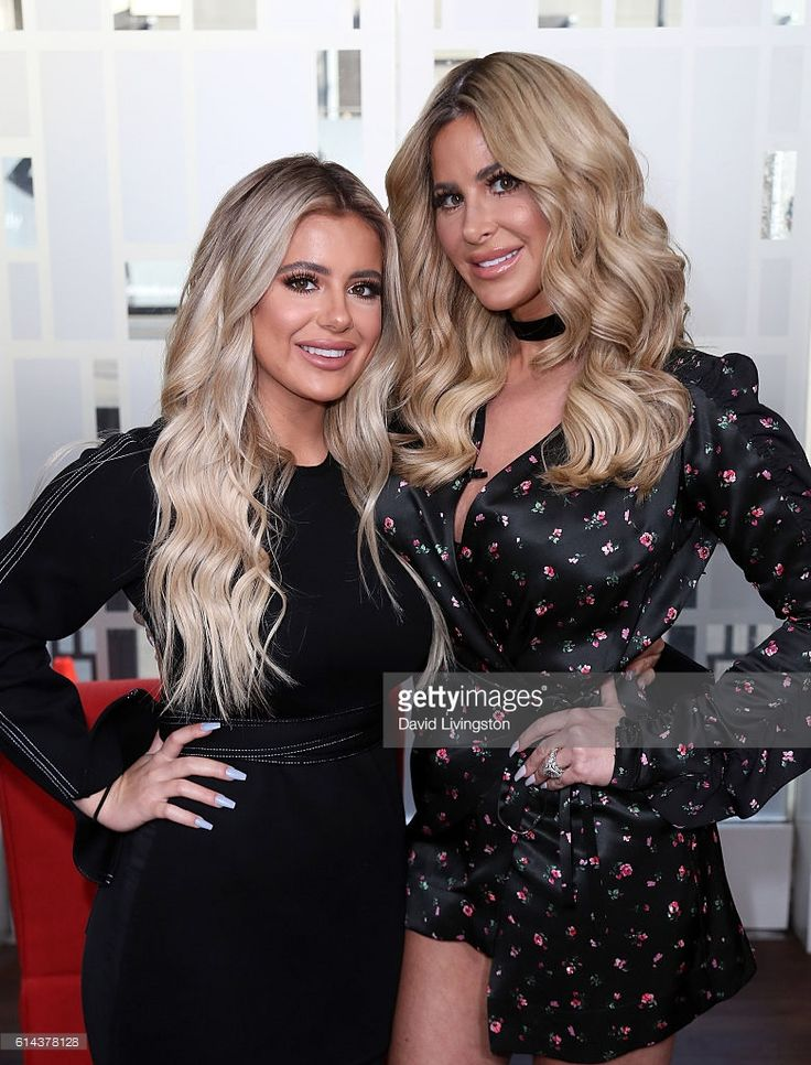 TV personality Kim Zolciak (R) and daughter Brielle Biermann visit Hollywood Today Live at W Hollywood on October 13, 2016 in Hollywood, California.