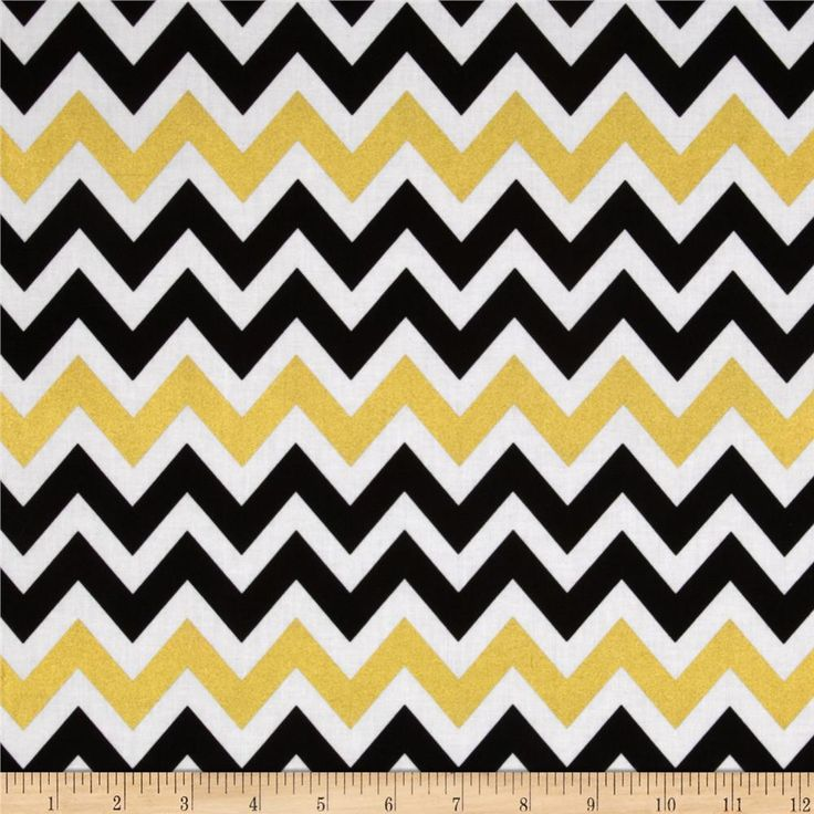 Remix Metallic Large Chevron Ebony from @fabricdotcom  Designed by Anne Kelle for Robert Kaufman, this metallic chevron cotton fabric is perfect for quilting, apparel, crafts, and home decor items. Colors include black, white, and metallic gold.