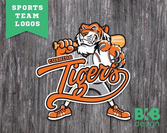 Custom Sports Team Logo Team Mascot Soccer Logo Little Etsy In 2020 Sports Team Logos Softball Logos Soccer Logo