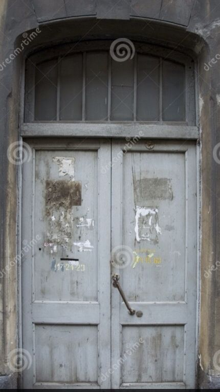 Blauwe oude deur