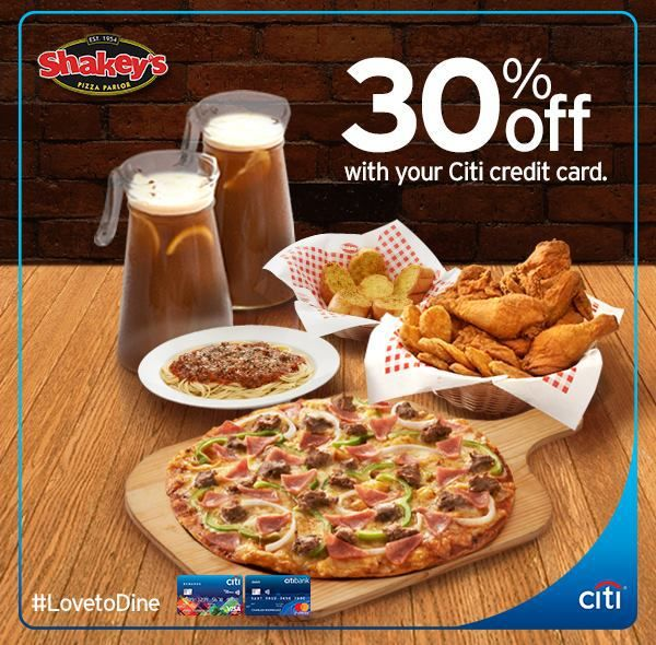 30% Off With Your Citibank Credit Card @ Shakey's #DealsPinoy #LovetoDine