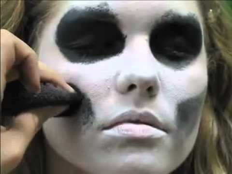 skeleton face paint easy 5 min tutorial - Easy Scary Halloween Face Painting Ideas