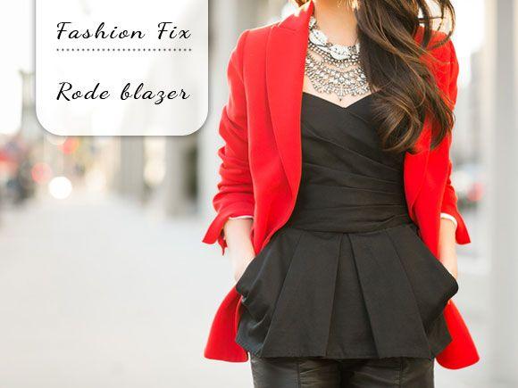 Fashion Fix: rode blazer - My Simply Special
