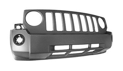 2007-2010 Jeep Patriot Front Bumper Cover W/O Chrome W/O Tow Hooks (P) (C) Patriot 07-10
