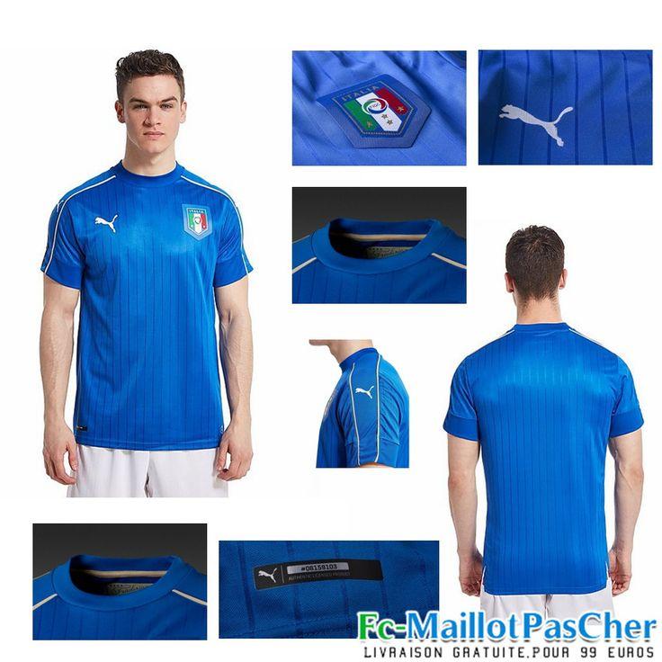 Le Nouveau Maillot foot Euro 2016 Italie bleu Domicile