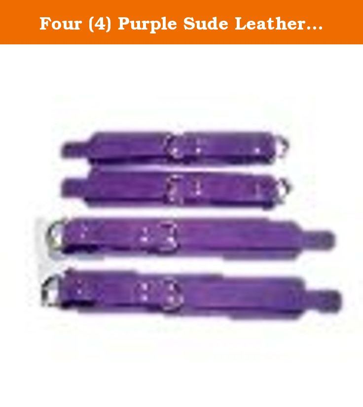 Four (4) Purple Sude Leather Wrist and Ankle Cuffs Restraint Reastraints. PURPLE SUEDE SET OF 4 CUFF'S 2 WRIST & 2 ANKLE CUFF'S THIS CUFF SET IS MADE OF REAL SUEDE 100% COW LEATHER NOT LIKE SOME OF THE CHEAP IMPORTS OR NOVELTY STORE GRADE ITEMS OTHERS ARE OFFERING SIZES WRIST CUFF'S WILL FIT 5.5-10 INCH ANKLE CUFFS WILL FIT 9.5-12 INCH IF YOU NEED A LARGER OR SMALLER SIZE LET US KNOW. WE WILL RESIZE OUR CUFF'S TO FIT YOUR NEEDS AT NO EXTRA CHARGE NO HASSLE AND NO B.S WHY CHOOSE OUR…