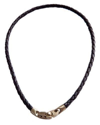 Any guy with a love of the sea will treasure the nautically inspired style of this leather necklace. Made from a length of vegetable-dyed, cowhide leather braid, it secures with a pair of... More Details