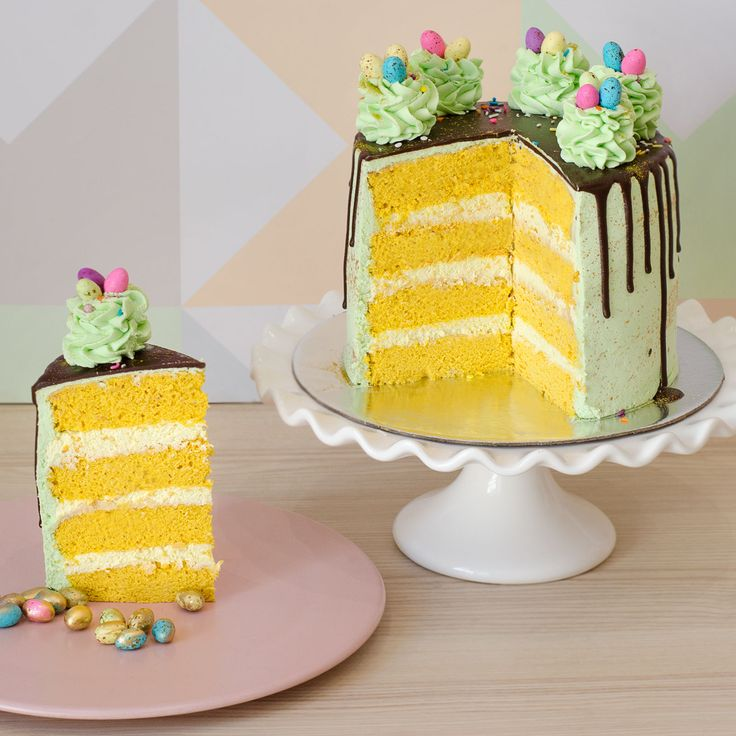 Easter Speckled Egg Cake   The Velvet Cake Co