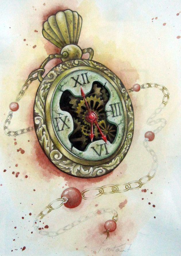 28 best Pocket Watch Tattoo Designs images on Pinterest ...