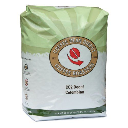 Coffee Bean Direct Co2 Decaf Colombian, Whole Bean Coffee, 5-Pound Bag - http://www.freeshippingcoffee.com/brands/coffee-bean-direct/coffee-bean-direct-co2-decaf-colombian-whole-bean-coffee-5-pound-bag/ - #CoffeeBeanDirect