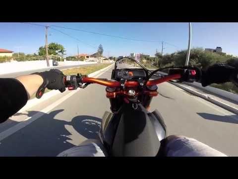 KTM supermoto 690 messing around