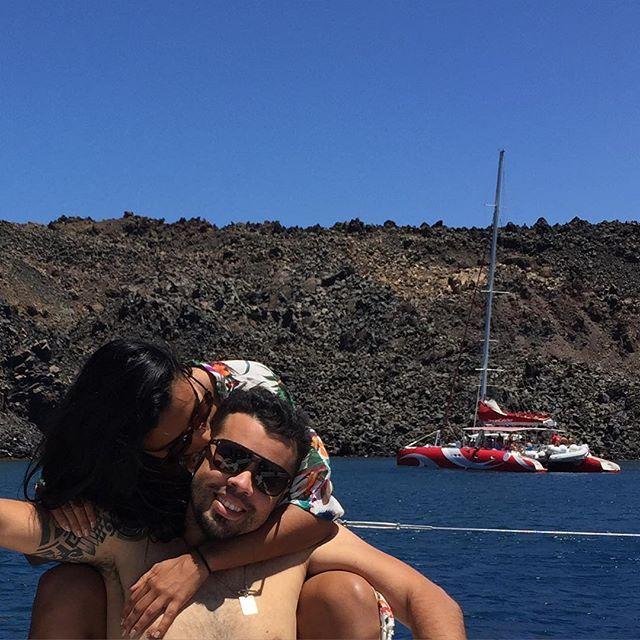 II Love & beloved❤️ #greekislands #santorini #santorinisailing #pilotlife #vacationmode