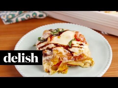 Best Caprese Chicken Lasagna Recipe - How to Make Caprese Chicken Lasagna