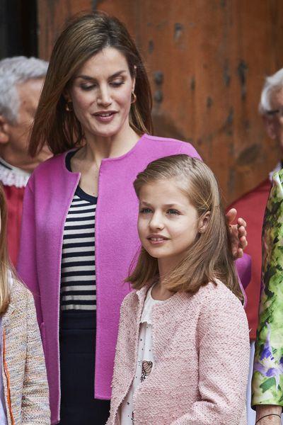 La Cour Royale Espagnole: La messe de Paques avec la famille royle