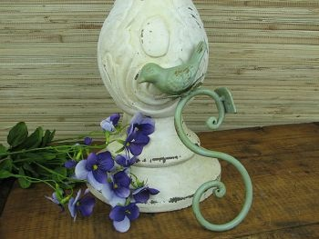 This cheerful little bird hook is a beautiful shade of blue-green. It's chipped paint gives it the look of an antique. 7 1/4 inches.: Decor, Wall Hooks, Little Birds, Birdie Hooks, Coat Hooks, Bird Hooks Cute, Cottages, 8 00 Hooks, Bird Hooks Love