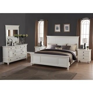 Regitina White 5-Piece King-size Bedroom Furniture Set