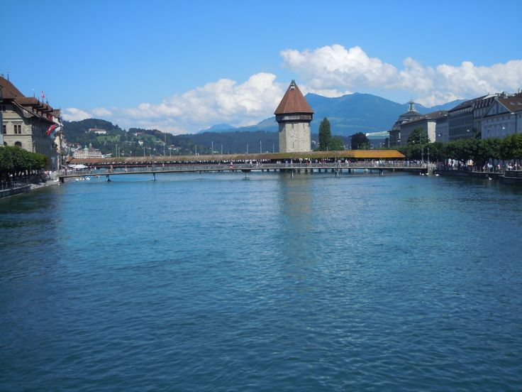Very old (since restored), historically important bridge which was once on fire, Switzerland (Photo by Lexi McKenzie)