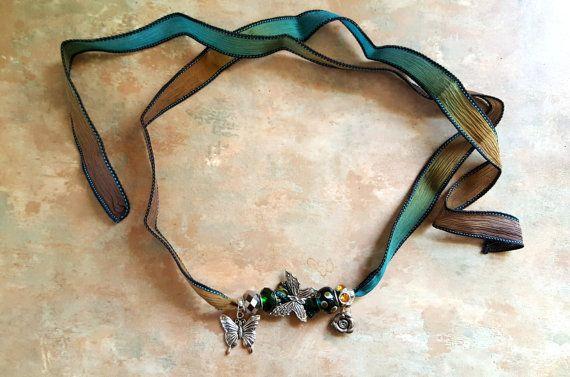 Cinta de seda hermoso abrigo de collar pulsera/Boho/mariposas