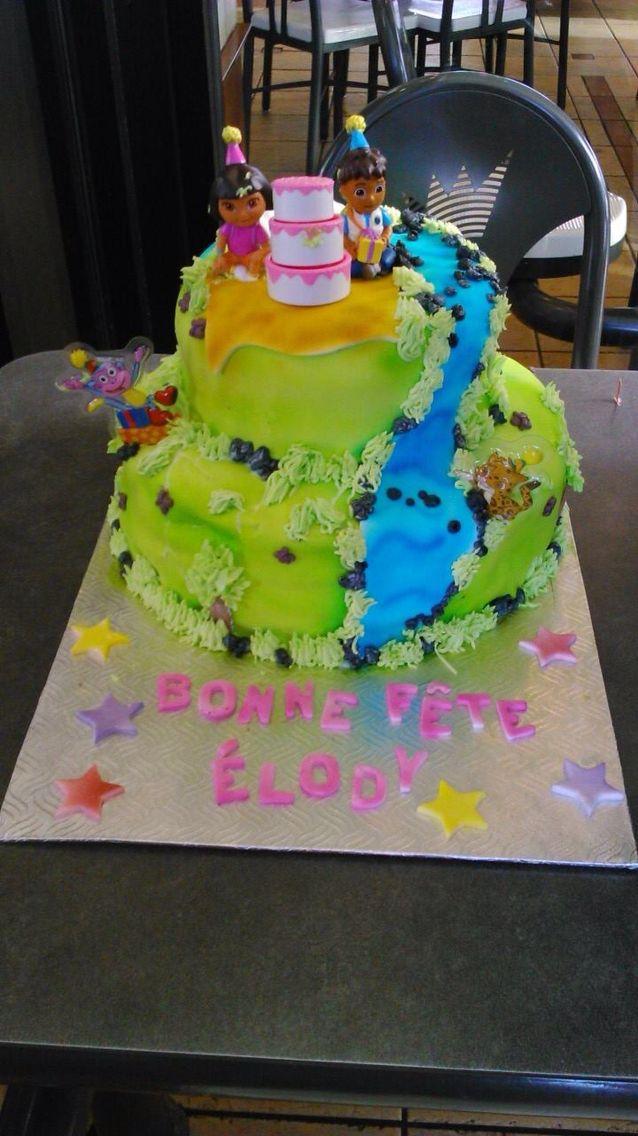 Gâteau dora pour une petite cocotte de 2 ans !!!