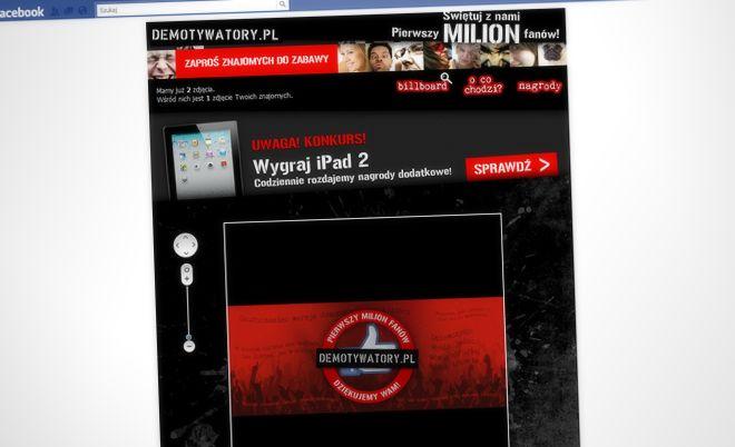 Demotywatory.pl: Let's celebrate million fans of Demotywatory.pl! - Jamel Interactive interactive agency Gdansk, Tricity
