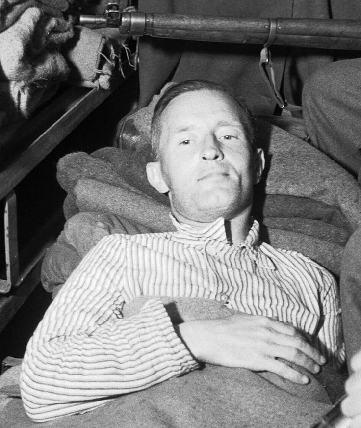 "British collaborator William Brook Joyce (""Lord Haw-Haw""), shortly after his capture near Flensburg, Germany (May 28, 1945). He was executed for treason the following year."