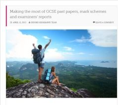 Nick Dyson discusses GCSE past papers, mark schemes for revision