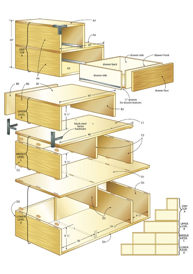 Build a tansu chest making a house a home pinterest House projects plans