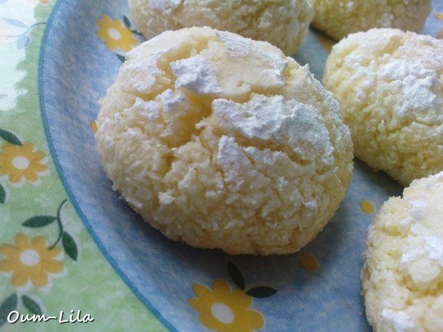 Ghribiya à la noix de coco - Gourmandises Orientales