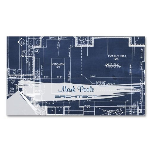 166 best architects business cards images on pinterest business pixdezines chalkboard architect blueprints business card reheart Images