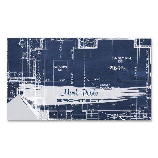 PixDezines chalkboard architect blueprints Business Card Templates
