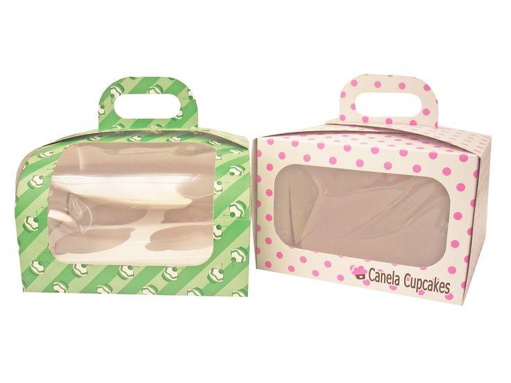cajas Para tus cupcakes x2 y x4...también para minis...