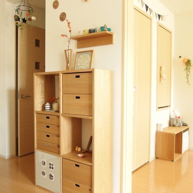 無印良品のスタッキングシェルフがある10人の家 | RoomClip mag ... 2段&3段の実例チェック!