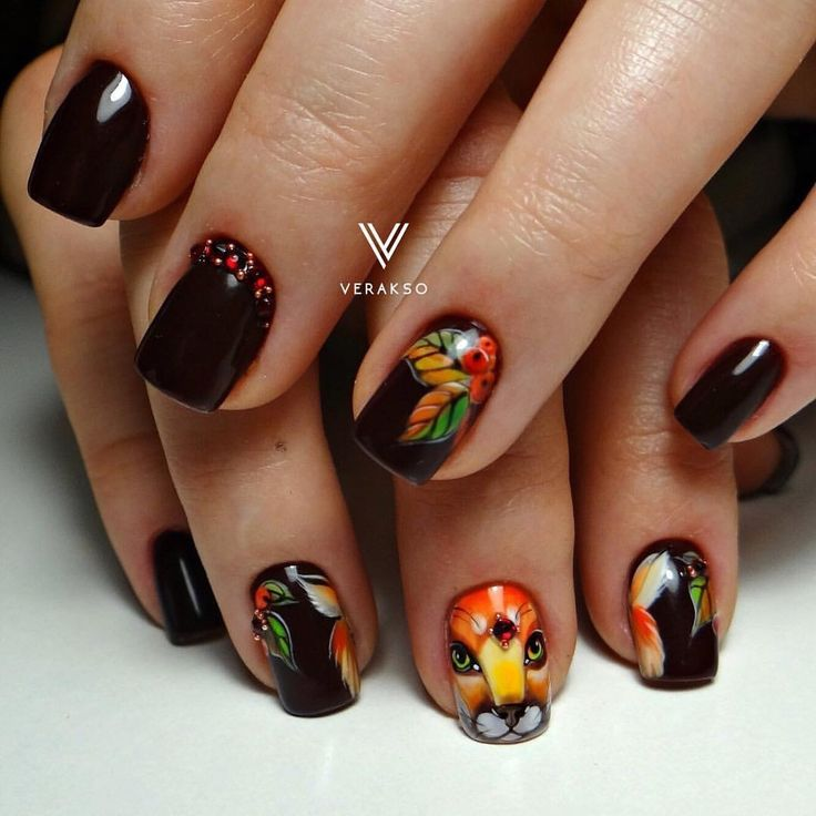 199 best Black nails images on Pinterest   Autumn nails, Fall nails ...